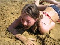 Chiara ist am Sand!