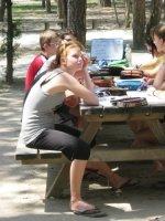 Italienischunterricht im Pinienwald